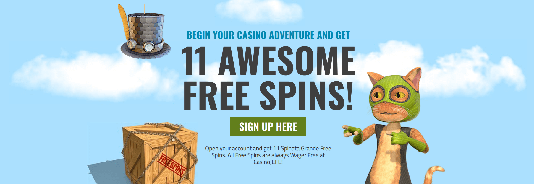 CasinoJEFE Casino Review no deposit free spins wager free free spins